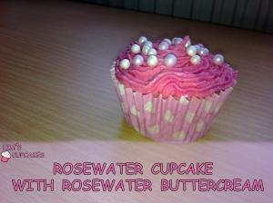 Rosewater Cupcake